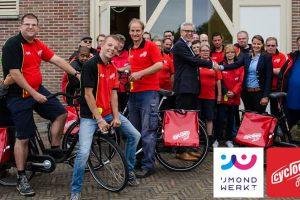 Cycloon Post & Fietskoeriers uit Zwolle neemt per 1 juli de postactiviteiten van IJmond Werkt! over.